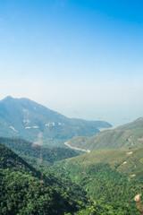 mountain and blue sky landscape shot