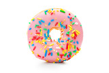 Delicious donut with sprinkles