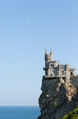 Old castle on cliff.