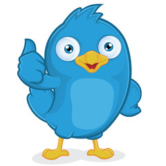 Blue Bird Giving Thumbs Up