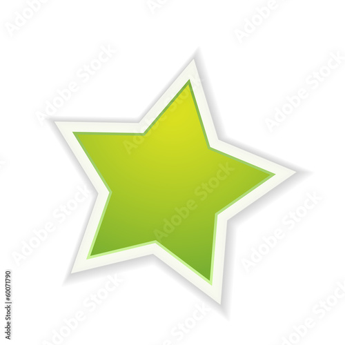 The green glossy star