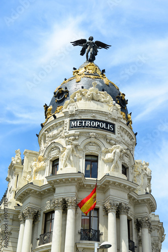 Metropolis Building in downtown Madrid, Spain