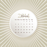 Calendar to schedule monthly 2014
