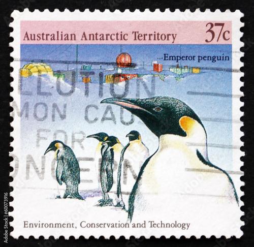 Foto op Plexiglas Pinguin Postage stamp Australia 1988 Emperor Penguins