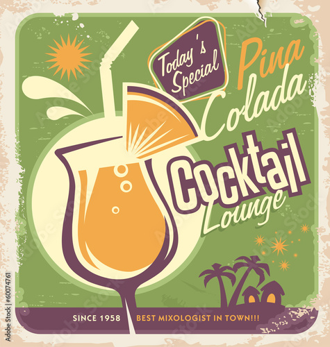 Retro poster design for one of the most popular cocktails