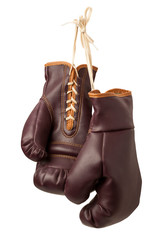Vintage Boxing Gloves isolated