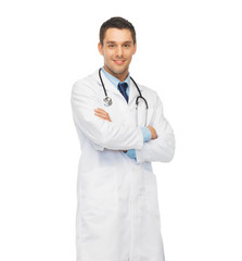 young male doctor with stethoscope