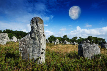 neolitic megaliths - Carnac in Brittany, France