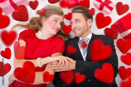 love hearts couple