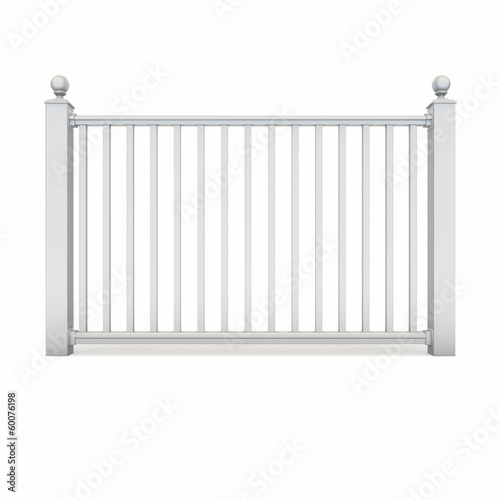 White design metal railing