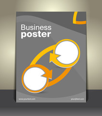 Vector design business flyer, magazine cover, poster template .