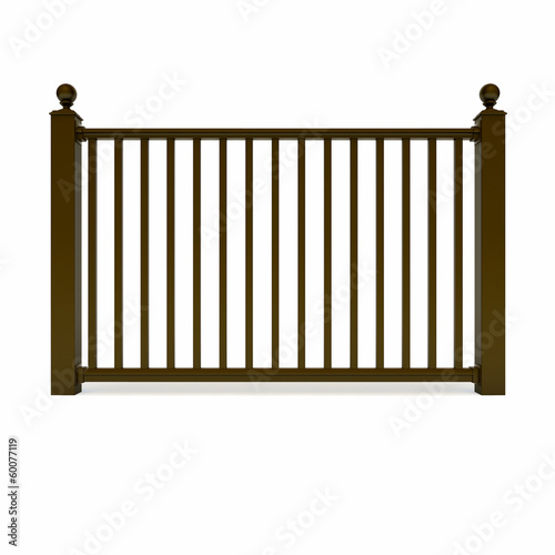 Brown design metal railing
