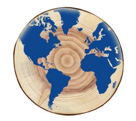 切り株の上の地球