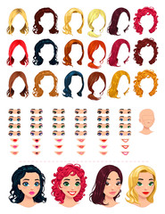 Fashion female avatars.