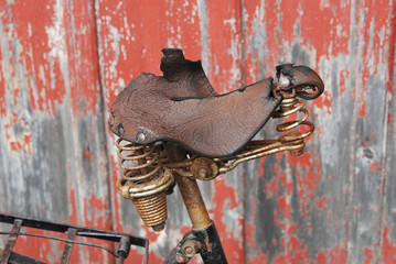 Old Bike Saddle