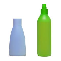 Set of cosmetic bottles. Vector illustration