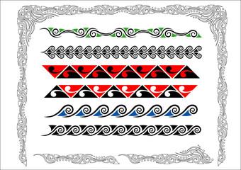 Maori Koru Borders