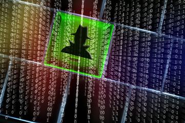 Online spy ware concept