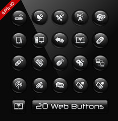 Wireless Communications Icons -- Black Label Series