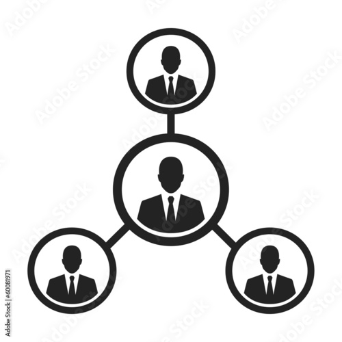 simple business management and human resource concept icon