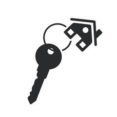 house key black web icon. real estate template