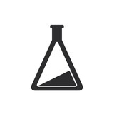 Black laboratory flask icon