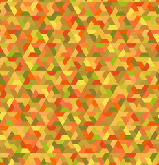 seamless geometric orange triangles attern