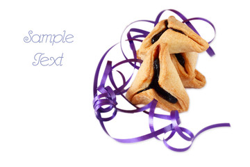 Hamantaschen cookies for Purim celebration isolated