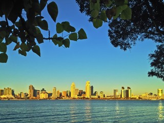 San Diego Skyline from Bay View Park Coronado California USA