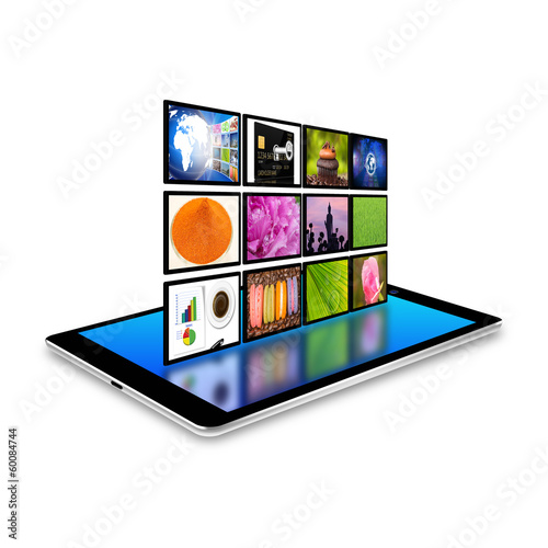 internet production technology concept on tablet ,tablet  illus