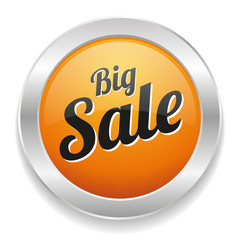 Yellow round big sale button
