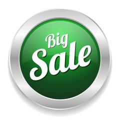 Green round big sale button