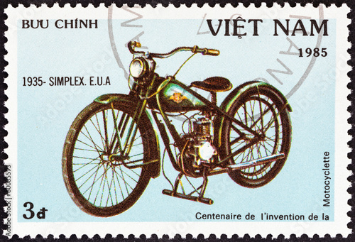 Simplex motorcycle of 1935 (Vietnam 1985)