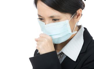 Woman cough