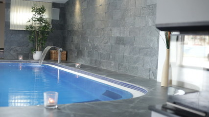 Interior of wellness and Spa swimming pool.