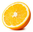 canvas print picture - Half of ripe juicy orange