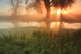 Misty sunrise on the river