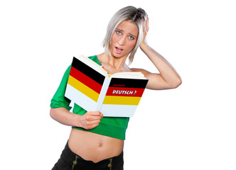 teen girl learning german