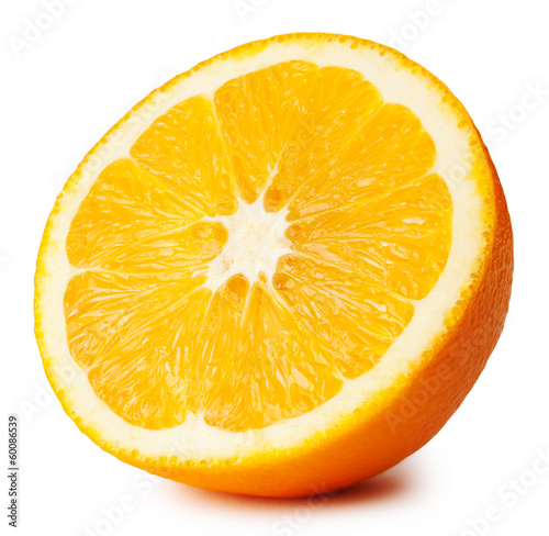 canvas print picture Half of ripe juicy orange