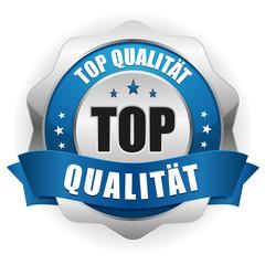 Top Qualität Siegel in blau silber