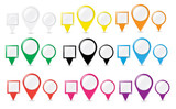 Collectiof of pointer buttons. VECTOR illustration.