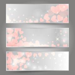 Horizontal romantic banners