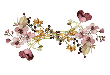 flower design in watercolor