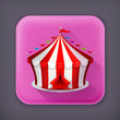 Circus, long shadow vector icon