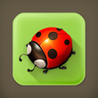 Ladybug, long shadow vector icon