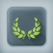 Laurel wreath, long shadow vector icon