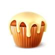 Cupcake, detailed vector