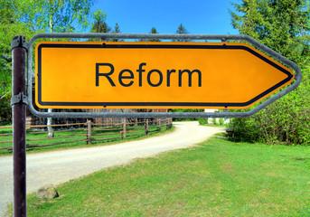 Strassenschild 3 - Reform