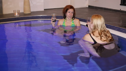 Women relaxing in wellness and Spa swimming pool