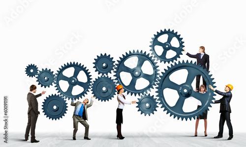 Leinwanddruck Bild Teamwork concept